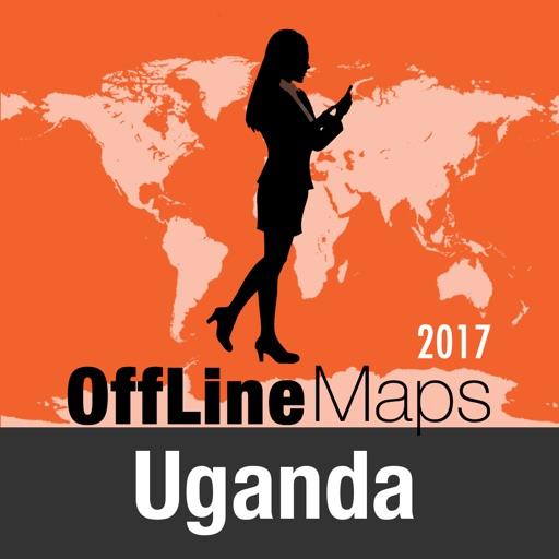 Uganda mapa offline y guía de viaje