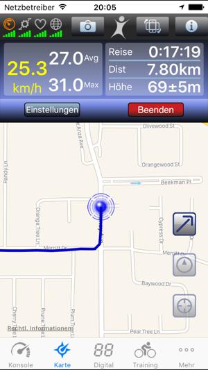 BioLogic BikeBrain – GPS Fahrradcomputer Screenshot
