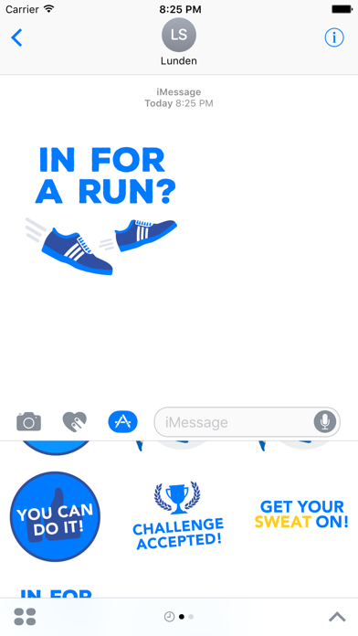 Runtastic Stickers - Inspire & Motivate - Phone Preview