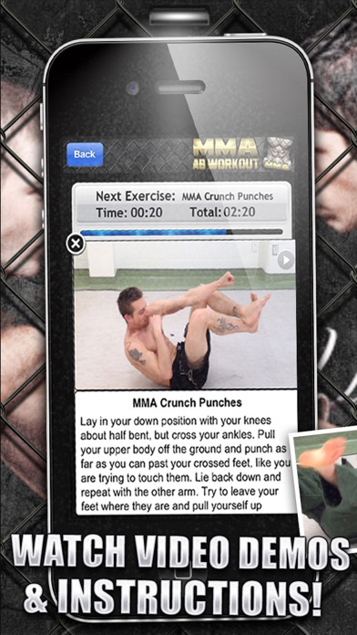 Ab Workouts MMA+ FREE Core Strength Abdominal Flex screenshot two