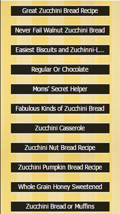 Zucchini Bread Recipes screenshot-3