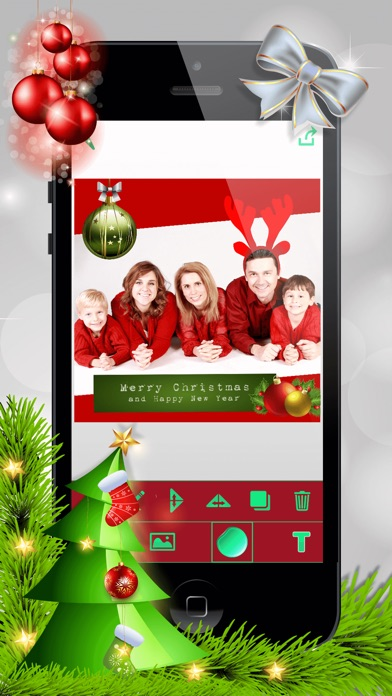 christmas photo booth xmas sticker picture editor
