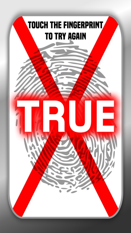 Lie Detector Fingerprint Scanner Touch Test Truth