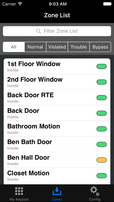 eKeypad Alarm screenshot two