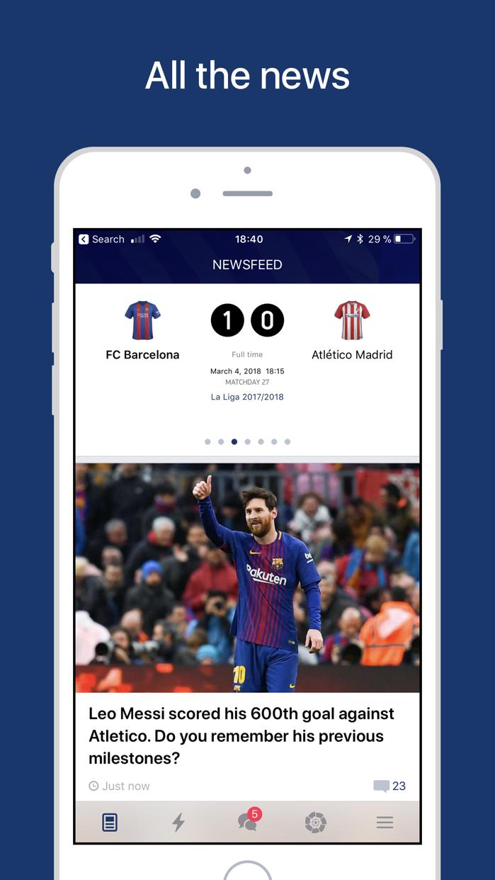 Barcelona Live — Goals & News Screenshot