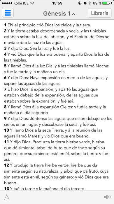 Biblia Reina Valera en Español Screenshot