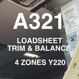 A321 LOADSHEET T&B 220 4z PAX