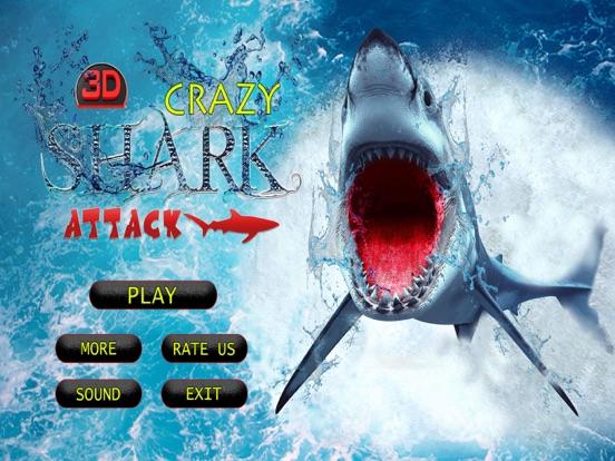 Crazy Shark Attack 3D - A hungry shark simulator-ipad-3