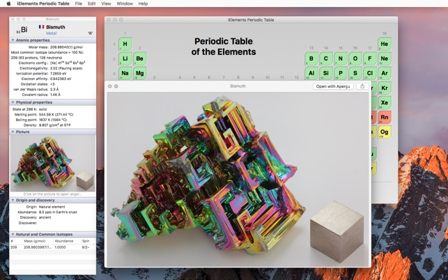 Ielements periodic table on the mac app store urtaz Images