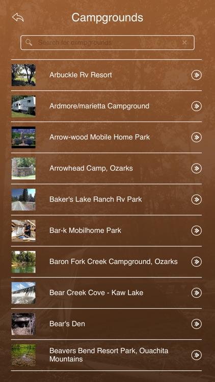 Oklahoma Camping Guide