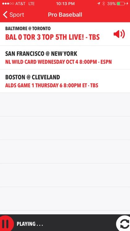 iSportsRadio - Radio, Scores & Schedules screenshot-3