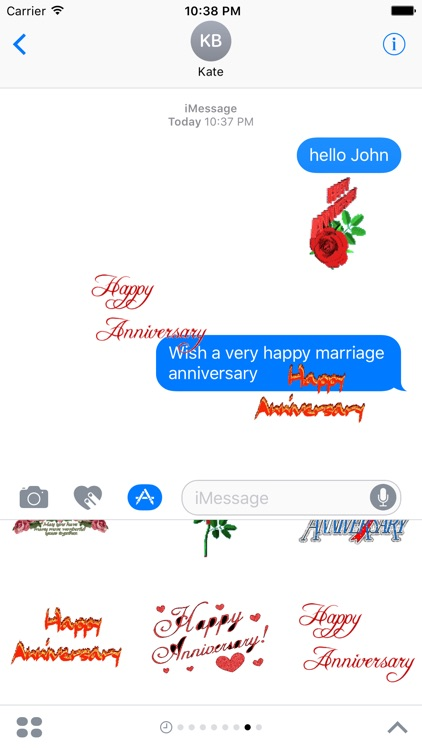Animated Anniversary Stickers for iMessage