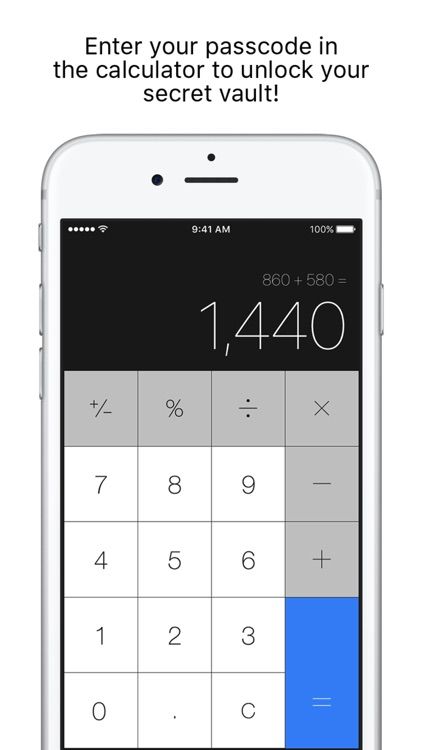 Secret Calculator + Private photo and video vault