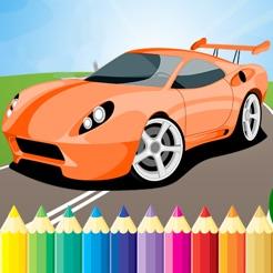 Yarış Araba Boyama Kitap Süper Araç çizim Oyun App Storeda