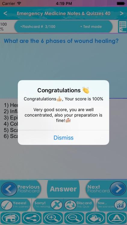 Emergency Medicine Exam Review App : 5200 Q&A screenshot-4
