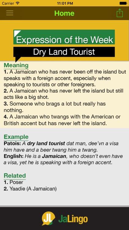 JaLingo - Jamaican Dictionary/Translator