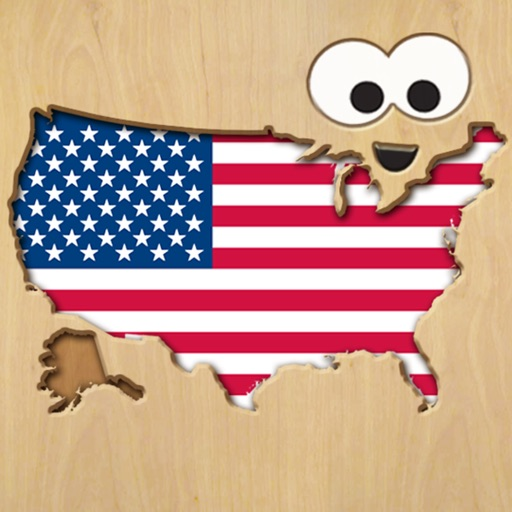 Wood Puzzle USA Map