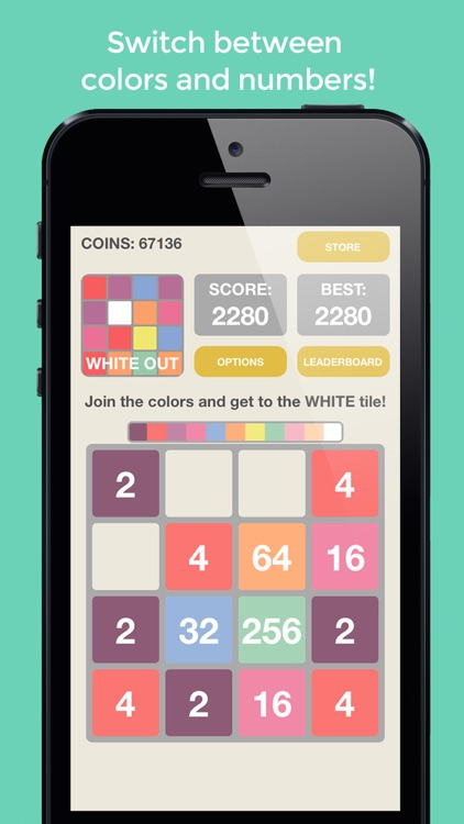 2048: White Out - The Best Color, Tile, And Merge Puzzle For All Ages! screenshot-1
