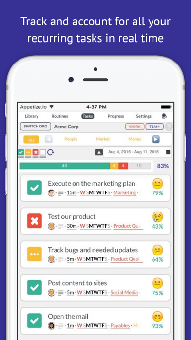 Tactick - Stick with Success and Stay Organized