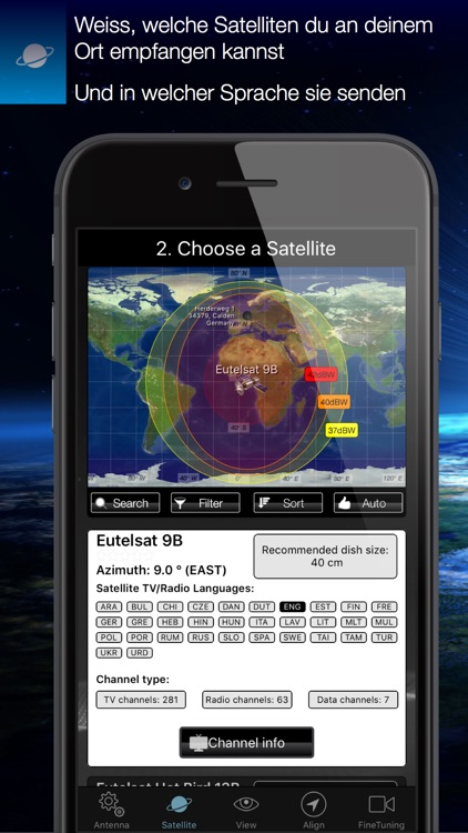 SatFinder screenshot-1