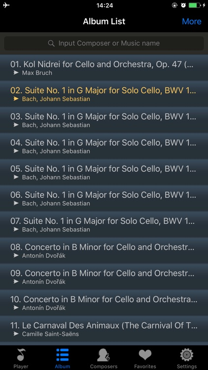 Cello music collection pro HD - DJ player screenshot-3