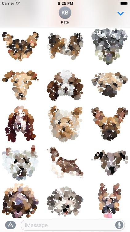 Dotted Dogs Stickers