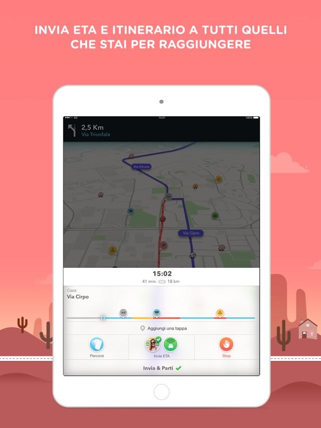 Waze GPS & Traffico live Screenshot