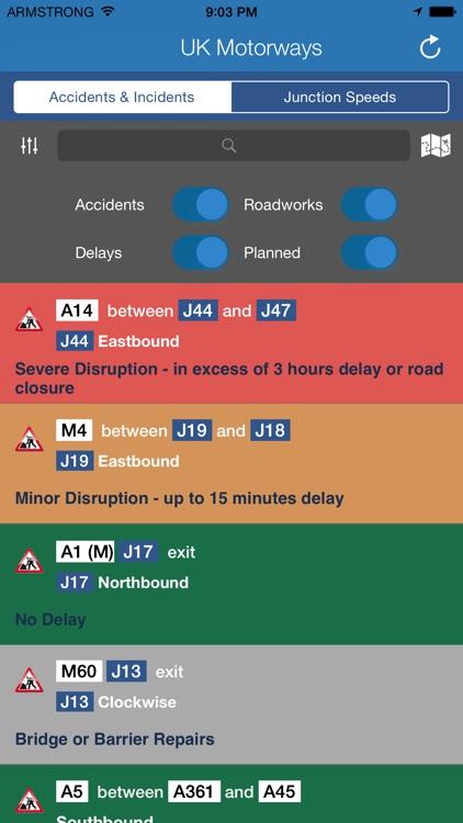 Motorways - LIVE Traffic Reports & Road Speeds
