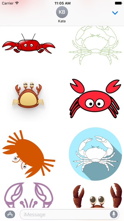 Crab Stickers