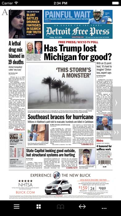 DNIE Detroit Free Press Screenshot