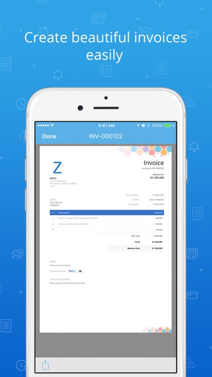 Invoicing and Time Tracking app - Zoho Invoice
