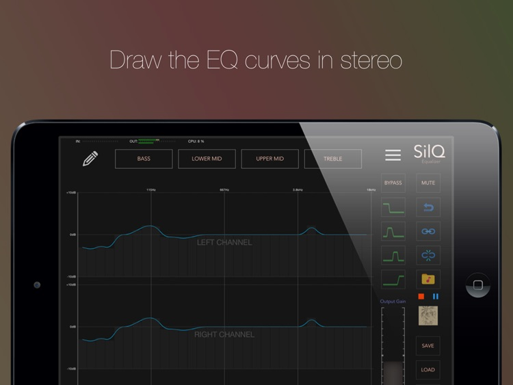 SilQ Equalizer - 32 Band Stereo Equalizer screenshot-0