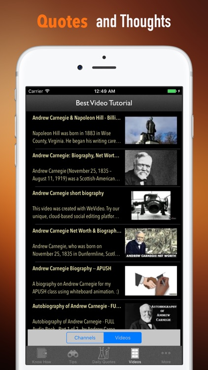 Biography and Quotes for Andrew Carnegie by WindyApp Studio
