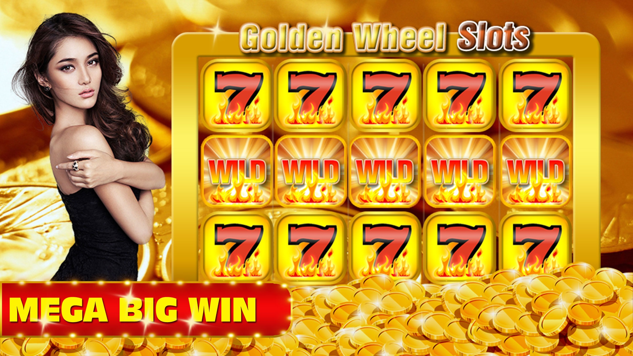 777 Hot Shot Golden Wheel Slot Screenshot