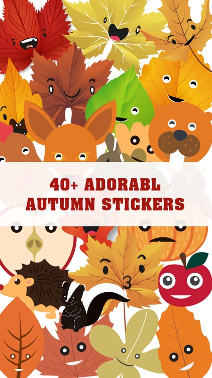 Autumnoji - Autumn Leaf Emoji & Pumpkin Sticker.s screenshot-0