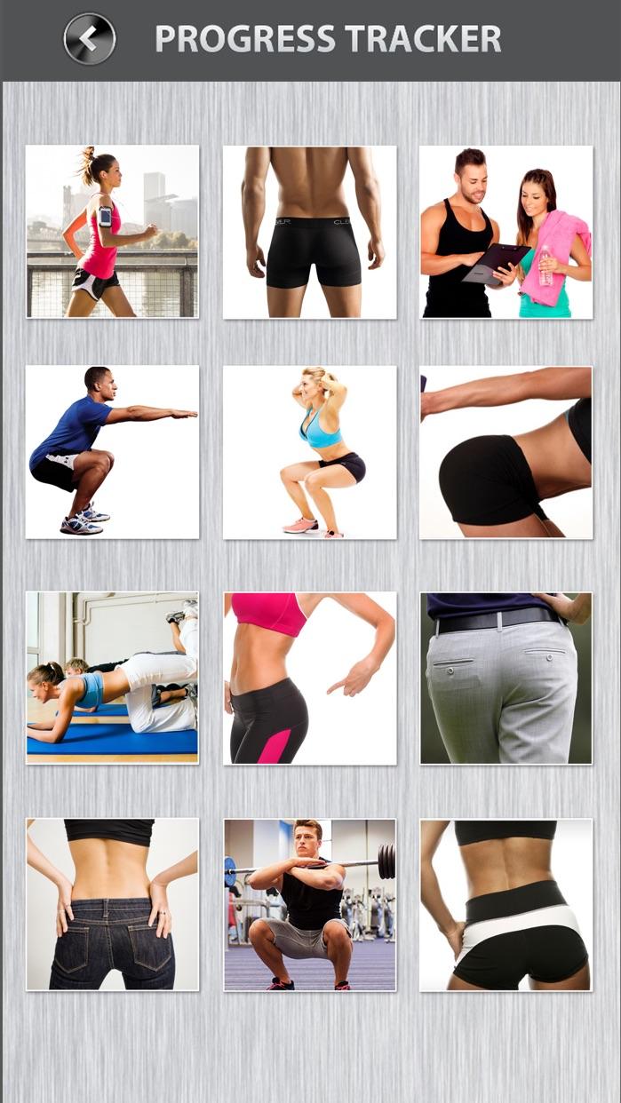 Butt Workout FREE Thigh Squat Cardio Exercises Screenshot