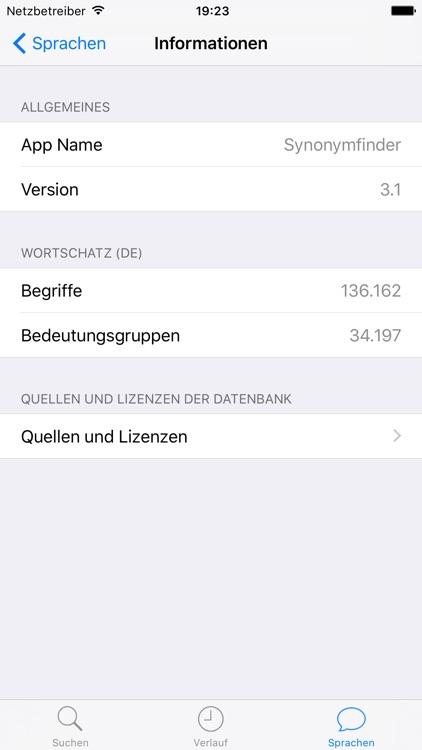 Synonymfinder Deutsch screenshot-3