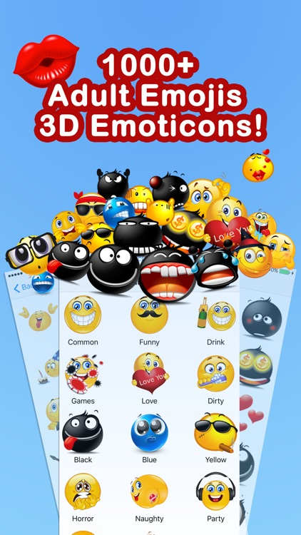 Adult Emoji Emoticons Pro - Smiley New Icons Faces screenshot-0