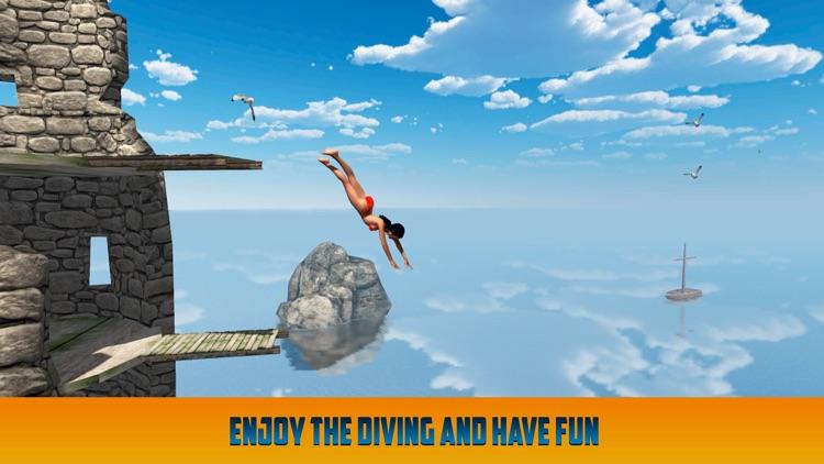 Cliff Flip Diving: Swimming Simulator screenshot-3