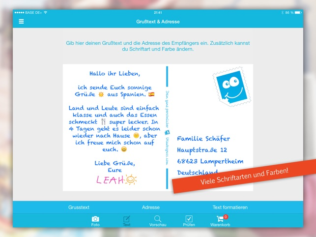 Urlaubsgruss Postkarten on the App Store