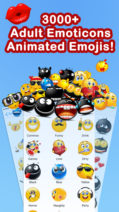 Emoticons Keyboard Pro - Adult Emoji for Texting Screenshot