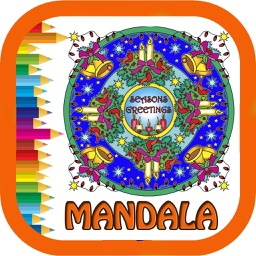 Mandala Coloring Book - Christmas collection
