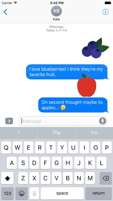 Fruits Sticker Pack for iMessage screenshot four