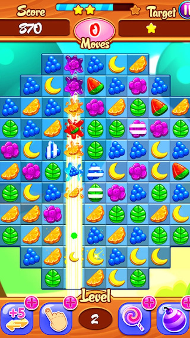 Juicy Fruit - 3 match puzzle yummy blast mania gameのおすすめ画像1