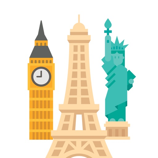 Famous Landmarks for Stickers