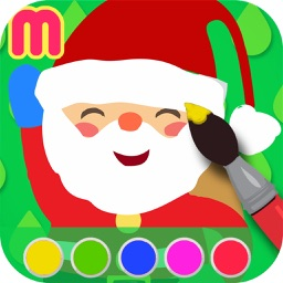Christmas Coloring Book - painting app for kids  - learn how to paint cute Xmas drawings