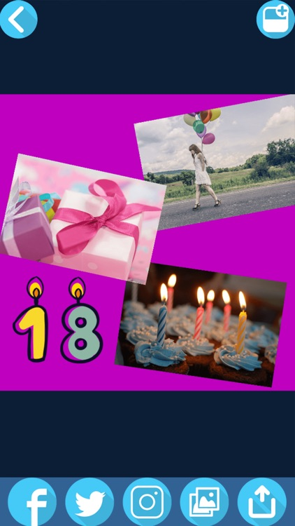 Birthday Picture Collage Maker – Cute Photo Editor screenshot-3