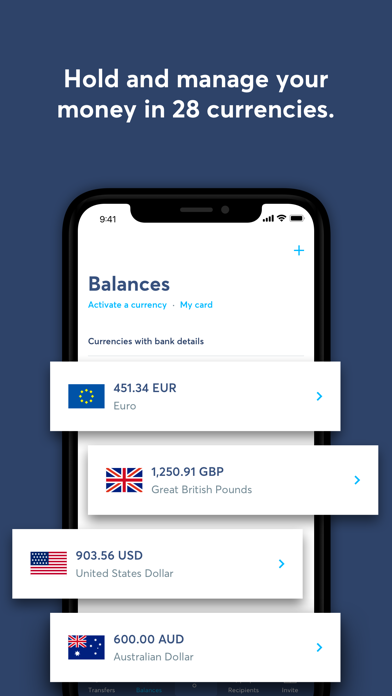 Screenshot 3 for TransferWise's iPhone app'