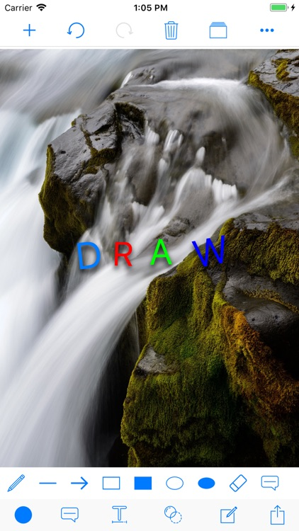 Draw Editor Drawing On Picture