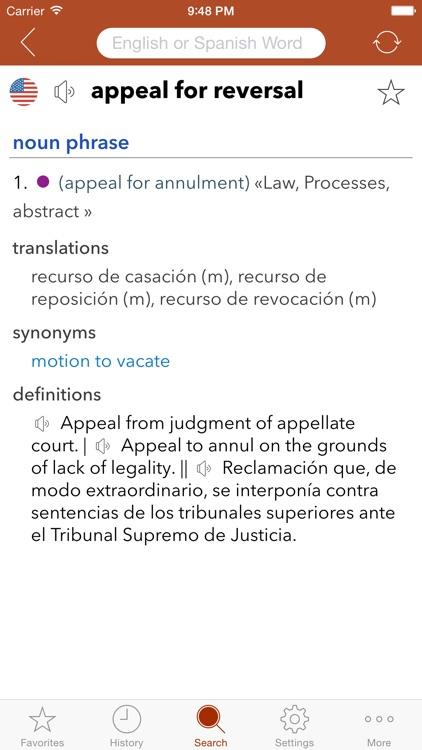 Spanish Legal Dictionary screenshot-4